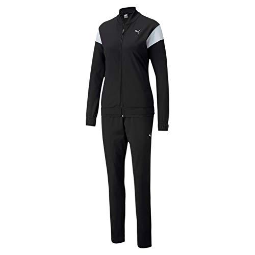 PUMA Damen Classic Tricot Suit op Trainingsanzug, Black, XL