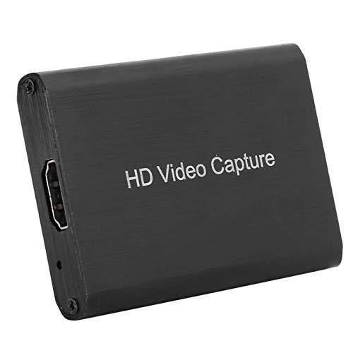 Cuifati Tarjeta de Captura de Video, Dispositivo de Tarjeta de Captura de Juegos USB2.0, Captura de Juegos, para Windows7 / 8/10, para OS X y para Linux