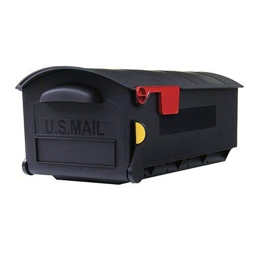 Patriot Mailboxes Large Capacity Rust-Proof Plastic Black, Post-Mount Gibraltar