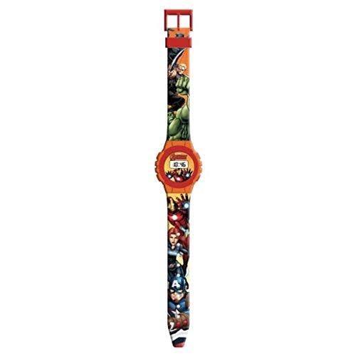 Avengers Reloj Digital Pulsera, Adultos Unisex, Multicolor, Unico