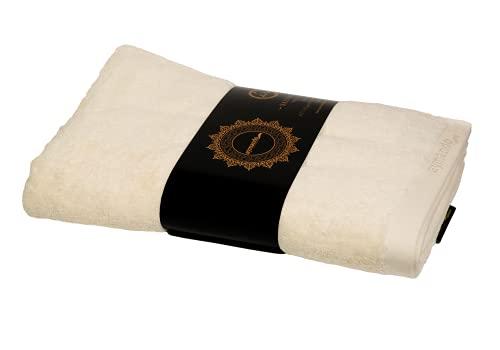 Aymando Scheich Collection Giza 86 - Toalla de sauna (90 x 180 cm, 100% algodón egipcio, 600 g/m²), color crema