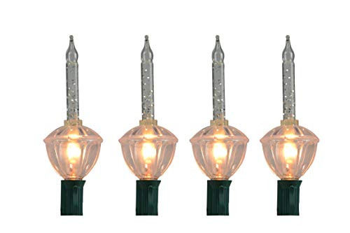 CELEBRATIONS Lighting C7 Replacement Bubble Light Bulbs 3-Pack Clear Bubble with Silver Glitter Replacement