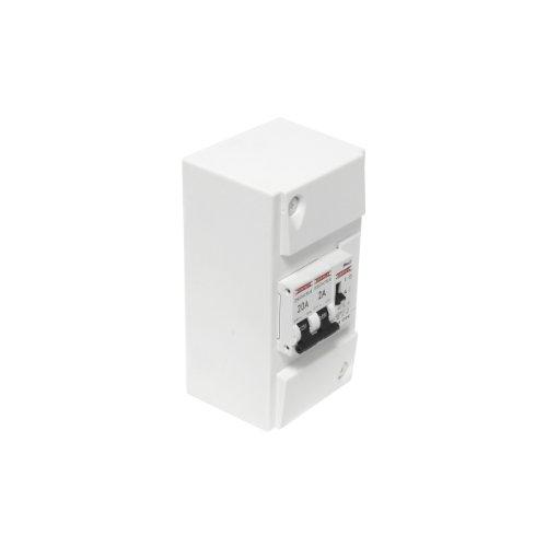 DEBFLEX 707692 Coffret modulaire étanche Tableau-Module électrique Chauffe-Eau-1 contacteur Jour/Nuit 230V 20A-707692, Blanc