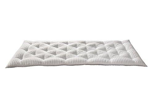 EvergreenWeb–Futón colchón individual, acolchada tela ergonómico y Avvolgente, excelente como cama Salvaspazio, o como práctico Topper colchón. Apto a todos los usos. COL. Blanco–pillowt