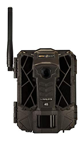 SPYPOINT LINK-EVO-V Cellular Trail Camera, 4G/LTE, 12MP HD Video, High Power LEDs&Infrared Boost Tech, 0.3s Trigger Speed, 80' Detect&90' Flash, EASY SETUP ((1) LINK-EVO-V)