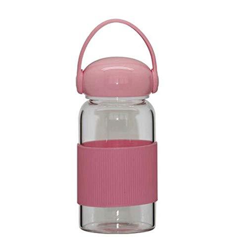 550 ml tasse voyage voiture incassable main portable en verre Bouteille d/'eau Rose