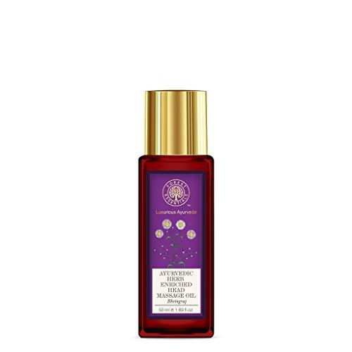 Forest Essentials Huile de massage ayurvédique enrichie en herbes aromatiques Bhringraj - 50 ml