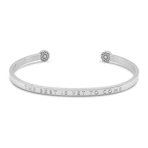 Simple Pledge - The Best is Yet to Come – Blind - Armreif in Silber mit Gravur für Damen