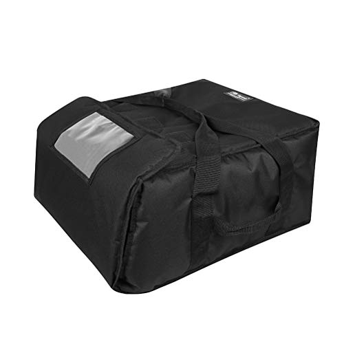 Professional Extra Thick Moisture Free Black Insulated Pizza Delivery Bags Thermal Food/Meat/Pizza Warmer Carrier Bags Hold 5-16