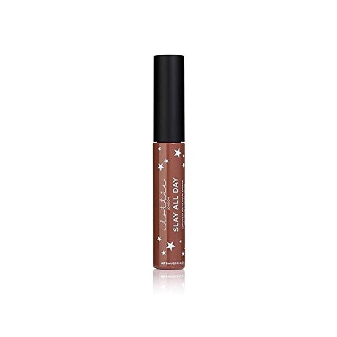 四面体犬ナンセンスLottie London Matte Liquid Lipstick - Hey Bae (Pack of 6) - ロンドンマット液状口紅 - ちょっとペ x6 [並行輸入品]