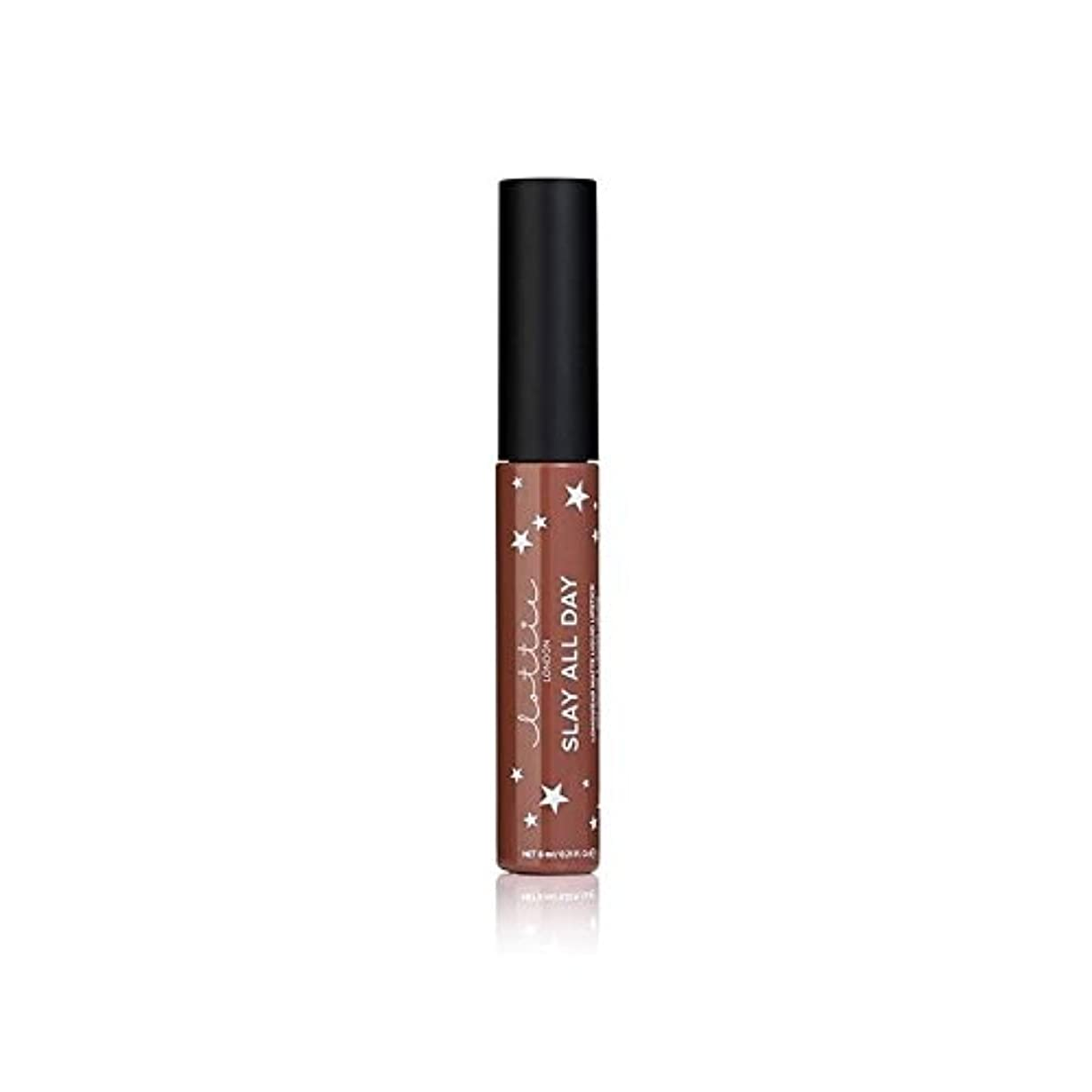 トリップドライ過激派Lottie London Matte Liquid Lipstick - Hey Bae (Pack of 6) - ロンドンマット液状口紅 - ちょっとペ x6 [並行輸入品]