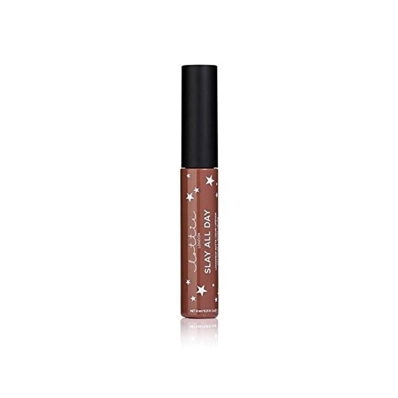豚肉膿瘍イヤホンLottie London Matte Liquid Lipstick - Hey Bae - ロンドンマット液状口紅 - ちょっとペ [並行輸入品]