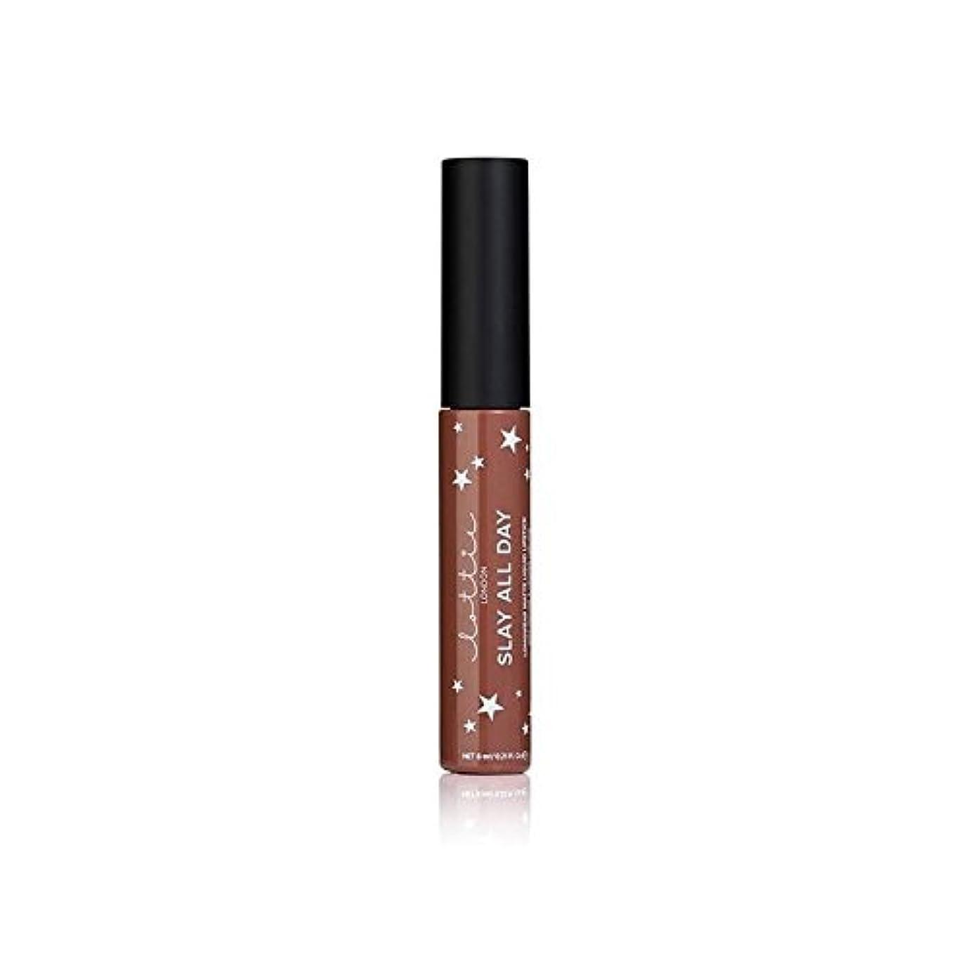 労苦に対処するカッターLottie London Matte Liquid Lipstick - Hey Bae (Pack of 6) - ロンドンマット液状口紅 - ちょっとペ x6 [並行輸入品]