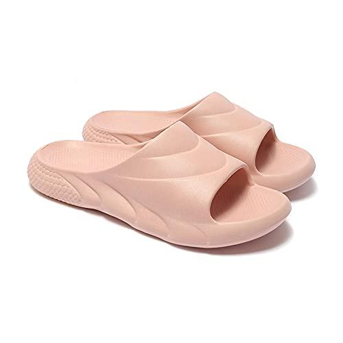 Chanclas Y Sandalias Piscina Zapatillas Beach Flip Flops Pool Slides Zapatos Casual Calzado Deportivo Aire Libre Vestir Slippers Muje EVA Cómodo Respirable Luz Suave Antideslizante (40,Rosa)