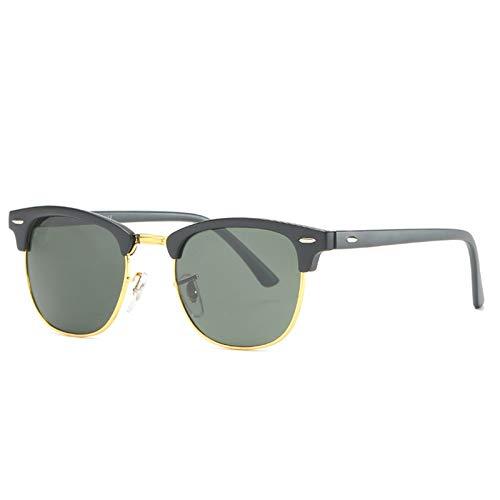 HDSJJD Hombres Y Mujeres Moda Gafas De Sol Polarizadas Retro Medio Marco Conducción Clásica Al Aire Libre UV400,A