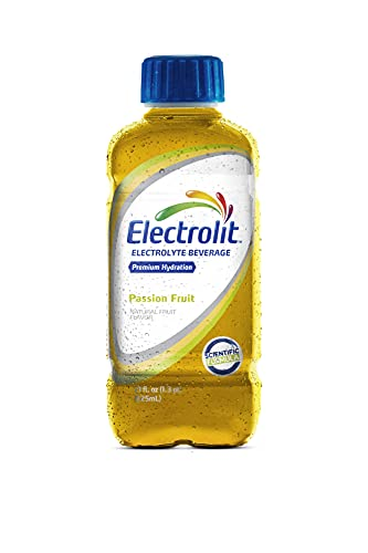 Electrolit Electrolyte Hydration & Recovery Drink, 21oz, Passion Fruit, 12 Pack