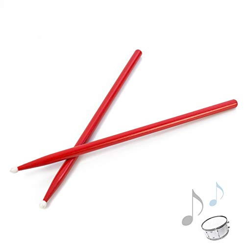 showking Drumsticks Maple Perch JESS mit Nylonkopf aus Ahorn, 5A, rot - rote Schlagzeugsticks 5 A/Bunte Drum Sticks für Jazz