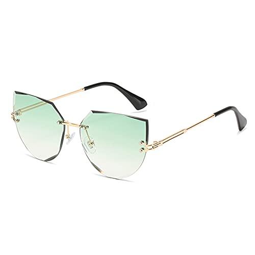 LUOXUEFEI Gafas De Sol Gafas De Sol Mujer Marrón Azul Gris Sin Montura Gafas De Sol Sombras Femeninas
