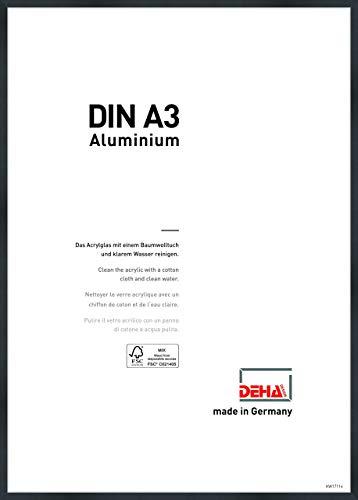 DEHA Aluminium Bilderrahmen Tribeca, 29,7x42 cm (A3), Struktur Schwarz Matt