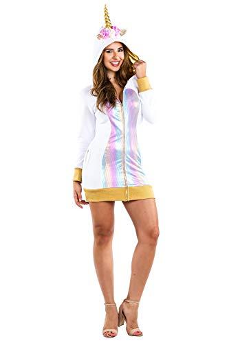 Tipsy Elves Einhorn-Kostüm für Damen, süßes und sexy Einhorn-Kostüm für Halloween - Gold - X-Large