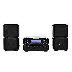 commercial Magnavox MM435-BK Compact CD shelf system, 3-part configuration, digital stereo AM / FM radio, Bluetooth … hi fi radio