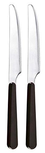 Excelsa Trendy Set 2 Couteaux, Acier Inoxydable, Noir, 21,5 x 1,5 x 1,5 cm