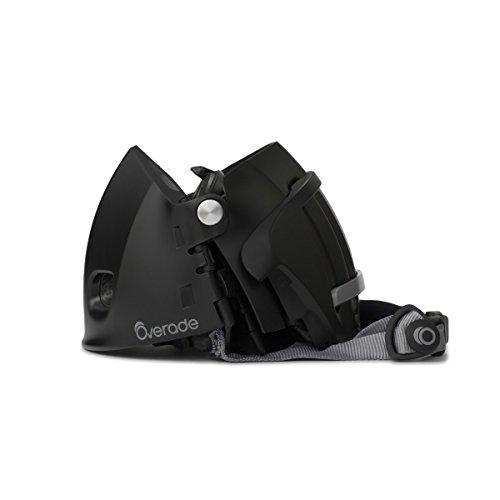 Overade Plixi - Casco de bicicleta plegable, Negro, S/M (54-58 cm)