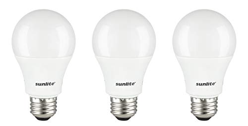 Sunlite 80936-SU LED A19 Light Bulbs 14 Watts (100W Equivalent), 1500 Lumens, Medium Base (E26), Non-Dimmable, UL Listed, 3 Pack, 4000K-Cool White