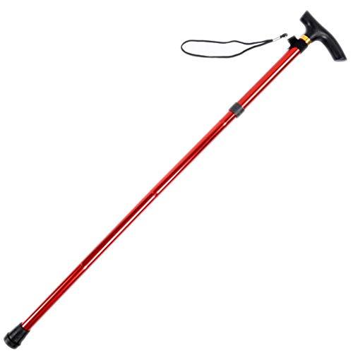 Qinghengyong Réglable Pliable Canes bâtons de Marche Portable pour Les Personnes âgées avec poignée de Coussin pour extérieur Trekking Randonnée