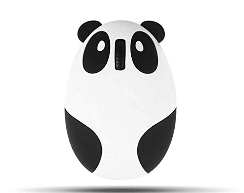 Genven Easy To Use Home Products Oplaadbare Panda Vorm Draadloze Muis, USB Optische Draadloze Mini Muis Voor PC Laptop Windows - Wit