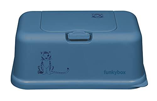 Caja de almacenamiento para toallitas húmedas, diseño bonito y función perfecta, unisex, frescura duradera y fácil de usar (grande, azul - tigre)