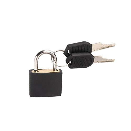 5 Piezas De Metal Pequeño Mini Candado De Acero Fuerte Maleta De Viaje Diario Cerradura Con 2 Llaves-Negro