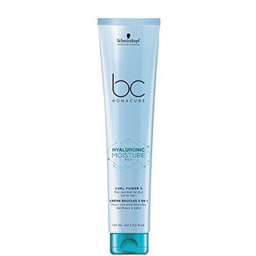 Schwarzkopf Professional BONACURE Hyaluronic Moisture Kick Crème boucle 5 en 1 Curl Power, 125 ml