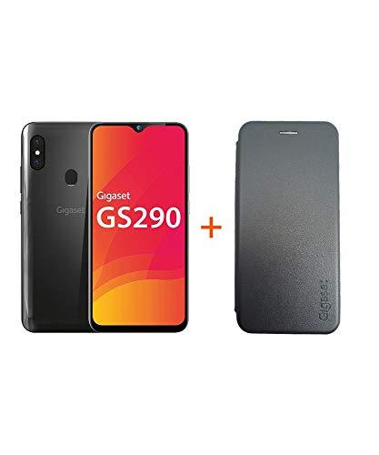 Gigaset GS290 Smartphone (16,0 cm) - 16 MP Frontkamera, Android 9 Pie, 64 GB interner Speicher, 4GB RAM - Titanum Grey + EXTRA Hardcover Hülle