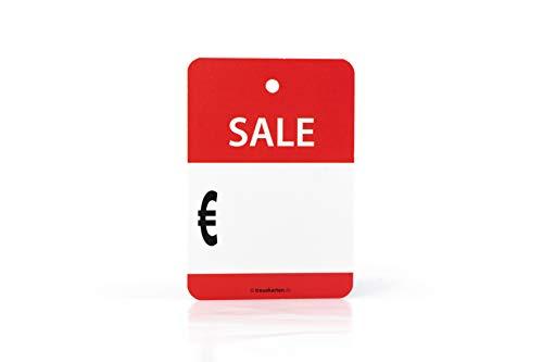 Preisschilder Sale Euro zum Eintragen Etikett Rabatt% Prozente 100 Stk.