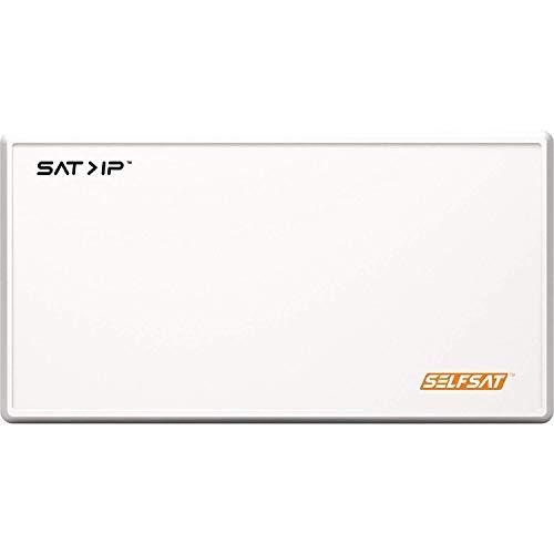 Selfsat IP21 SAT2IP / SAT>IP Flachantenne / Satellitenschüssel / 2X Lagacy Anschlüße für herkömliche Receiver / TV / IP-Datenströme für bis zu 8 SAT2IP Receiver / TV / DLAN / WLAN / LAN / GigaBit