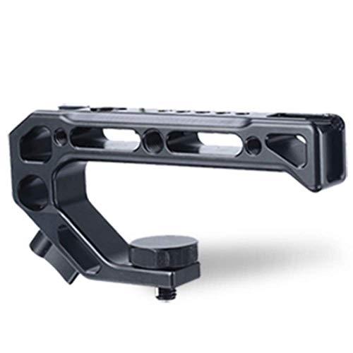 Camera Top Handvat Grip, 4 Koude Schoen Mount Microfoon en 15MM NATO Rail Rod Klem Buisgat, voor Sony A6400 6300 Nikon Canon DSLR Camera Cage