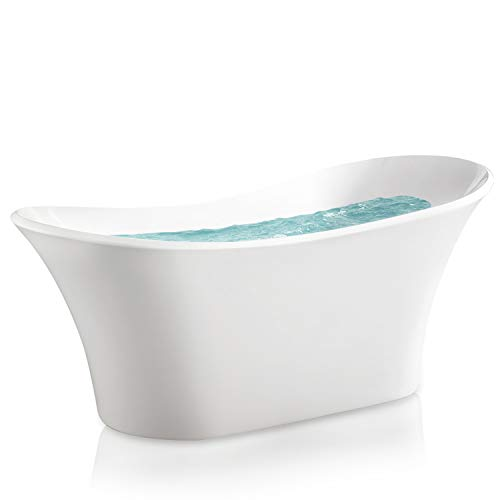 AKDY 71' Bathroom Freestanding Acrylic Smooth Glossy White Bathtub
