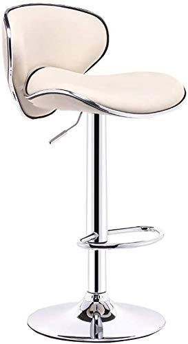 Barkruk, draaistoel, 24 inch, hoge zitting, verstelbare stang, PU-leer, barkruk, bureau en stoel