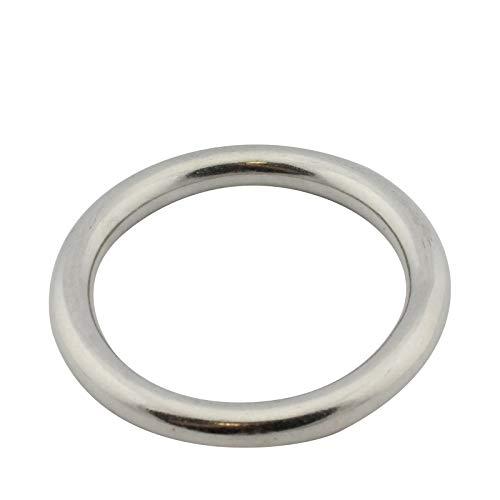 D2D | VPE: 1 Stück - Edelstahl Ring - Größe 10 x 60 mm - M8229 A4 V4A - geschweißt und poliert - Öse O-Ring