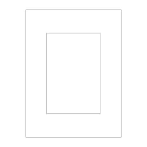 AlphaUVplus Premium Passepartout Weiß (Schneeweiß) - alle Standard Größen - 1,4mm stark - Museumsqualität (Außen: 50 x 70cm / für Bildgröße: 40 x 60cm)