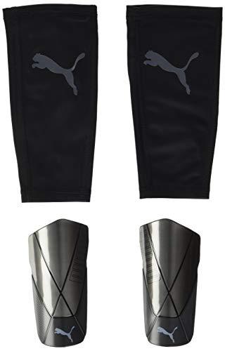 PUMA ftblNXT Pro Flex Sleeve Espinillera Futbol, Unisex-Adult, Black-Asphalt, XS