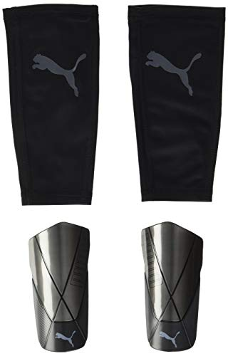 PUMA Unisex-Adult ftblNXT PRO Flex Sleeve Schienbeinschoner, Black-Asphalt, M