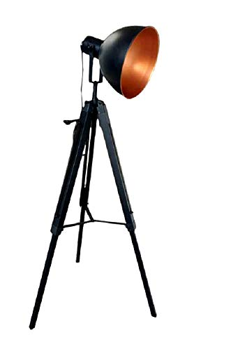 MaxxHome - Lámpara de pie de pie vintage con diseño retro, 35 cm de diámetro, casquillo E27, 40 W, 147 cm