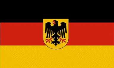 Grand drapeau de l'allemagne avec motif aigle, 150 x 250 cm
