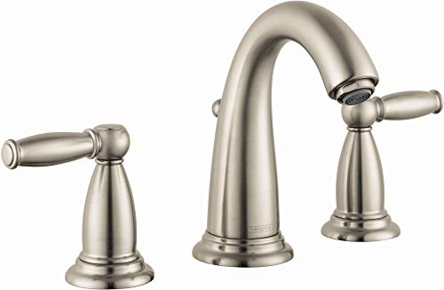 hansgrohe Swing C Classic Upgrade Easy Clean 2-Handle 3 7-inch Tall Bathroom Sink Faucet in Brushed Nickel, 06117820