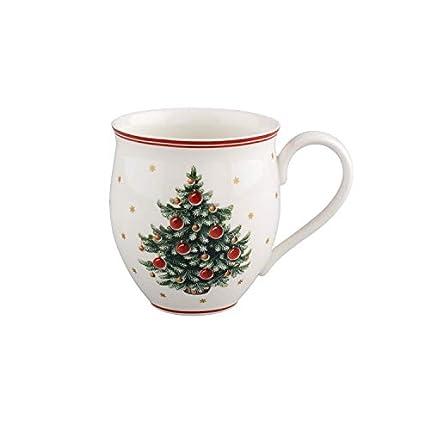 Villeroy & Boch 14-8585-4860 Taza Grande con asa Toy's Delight, Motivo árbol de Navidad, 340 ml, Porcelana, Blanco/Rojo