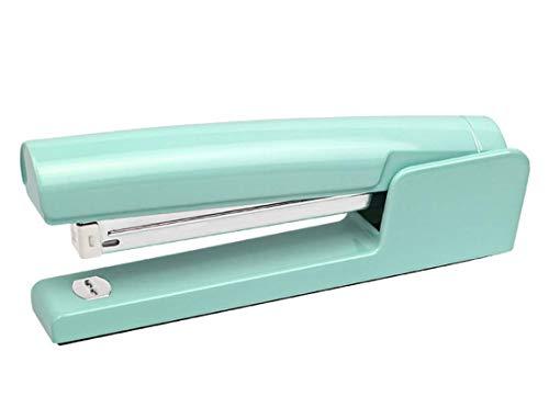 30 24//6Mm Capacity 2-20 Sheets 80G Anti-Jam Design Turntable 158 59Mm,Green Comprajunta HS835 Zinc Alloy Long Stapler 150 Staples 26//6Mm