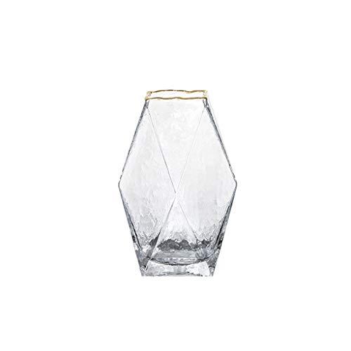 CjnJX-Vases C-J-Xin Geometrica Mesa de Comedor florero, florero de Cristal Claro de Cubierta Mesa de Comedor Escritorio Multifuncional hidroponico florero Jarrones Decorativos