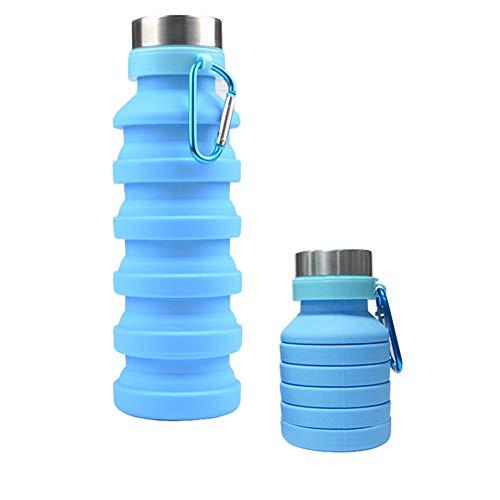 l'eau en Silicone 550ml Portable Rétractable Bouteille Pliant Café Gourde Voyage Extérieur Pliable Sport Drink Kettle